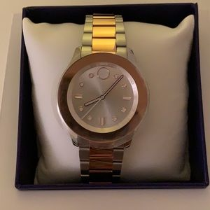 Movado Bold 38 MM Silver/Bronze watch
